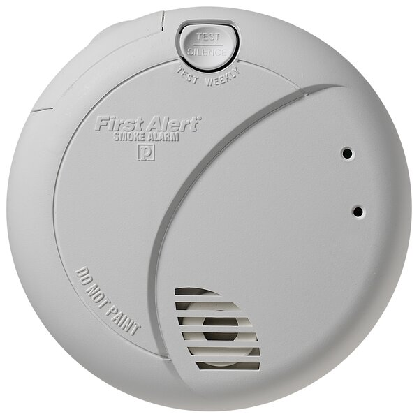 Smoke Alarm with Photoelectric Sensor and Battery Backup by First Alert