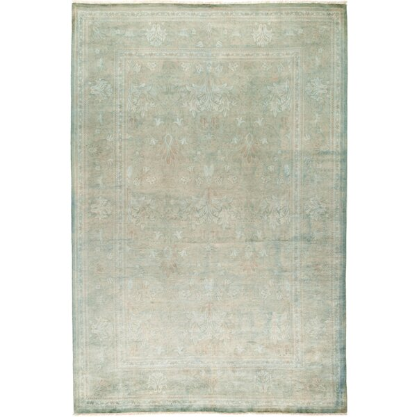 One-of-a-Kind Pritt Hand Knotted Wool Green Area Rug by One Allium Way