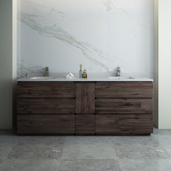 Formosa Floor Standing 84 Double Bathroom Vanity Set