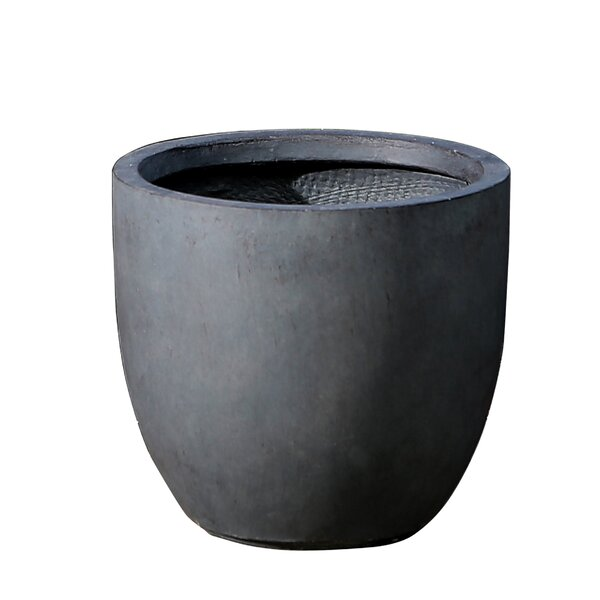 Round Fiberclay Pot Planter by Winsome House