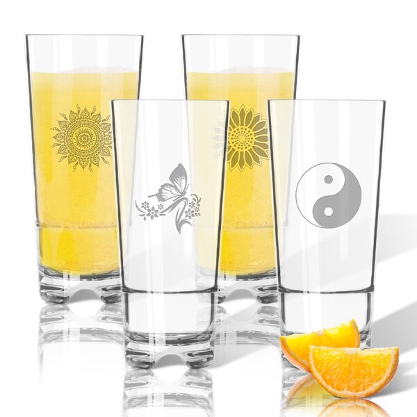 4 Piece Solstice Tritan 16 oz. High Ball Glass by Carved Solutions