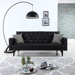 Rathbun Modern Tufted Reclining Sleeper Sofa by Wrought Studio