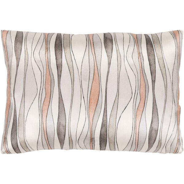 Natural Affinity Modern Silk Lumbar Pillow by Surya