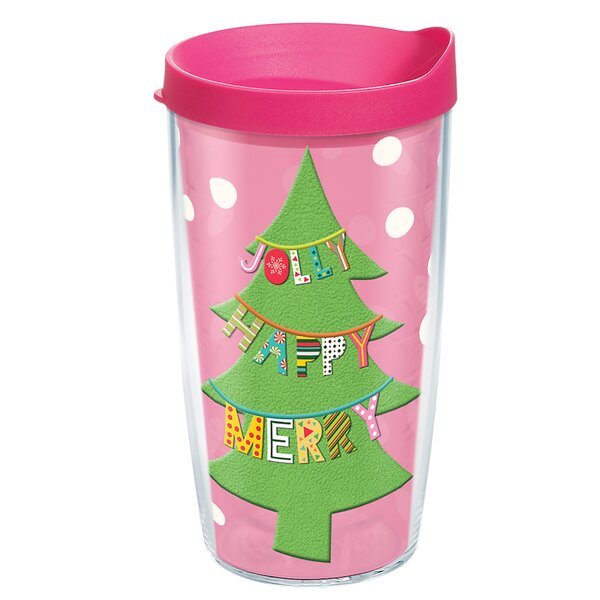 Jolly Happy Merry Plastic Travel Tumbler by Tervis Tumbler