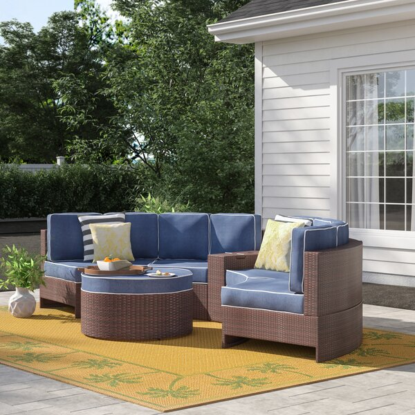 Bermuda 6 Piece Rattan Sectional Seating Group with Cushions by Sol 72 Outdoor