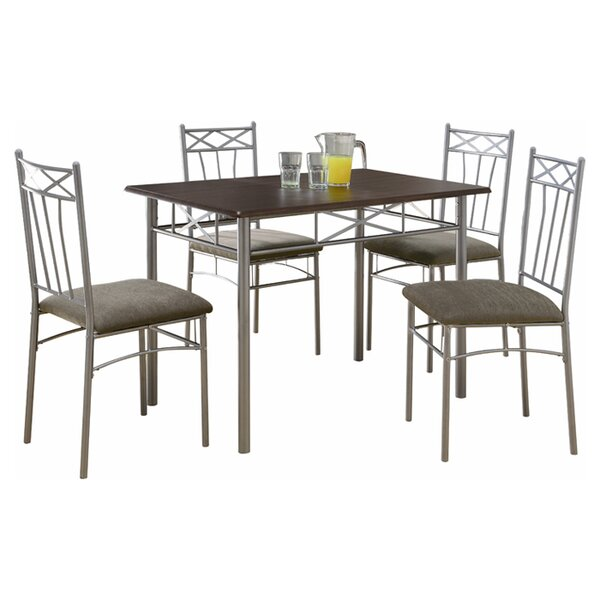 Scherer 5 Piece Dining Set by Winston Porter