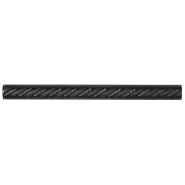 Tilden 0.5 x 6 Metal Rope Liner Tile in Antique Ni