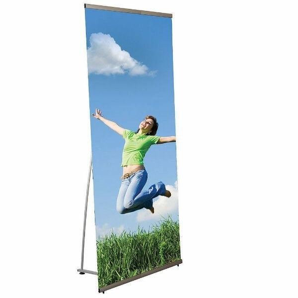 Freestanding Quick Banner Stand by MT Displays