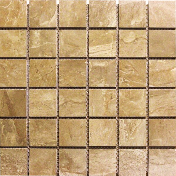 Onyx 2 x 2 Porcelain Mosaic Tile in Noche by MSI