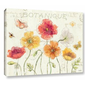 Painted Poppies I Painting Print on Wrapped Canvas by Lark Manor