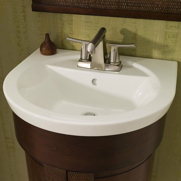 Tropic Petite Ceramic 21 U-Shape Pedestal Bathroom Sink and Overflow by American Standard