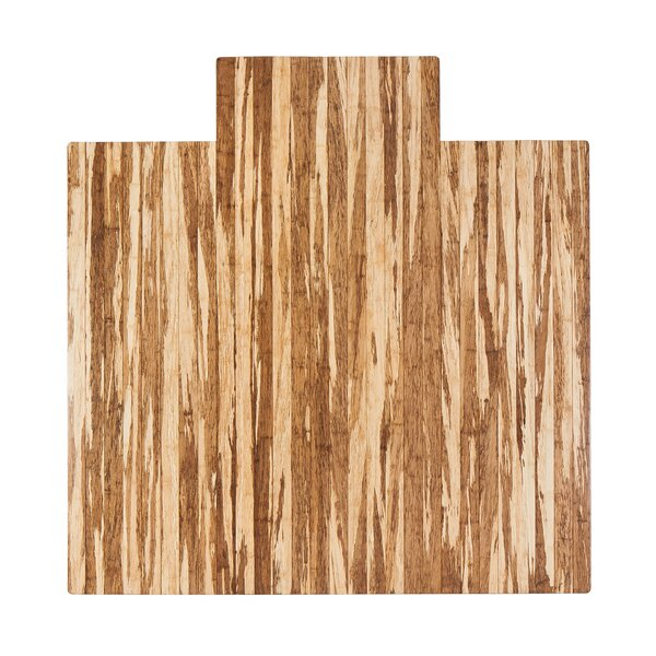 Strand-Woven Bamboo Roll-Up Hard Floor Beveled Chair Mat by Anji Mountain