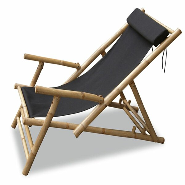 Everglade Bamboo Folding Sling Patio Chair by Bay Isle Home