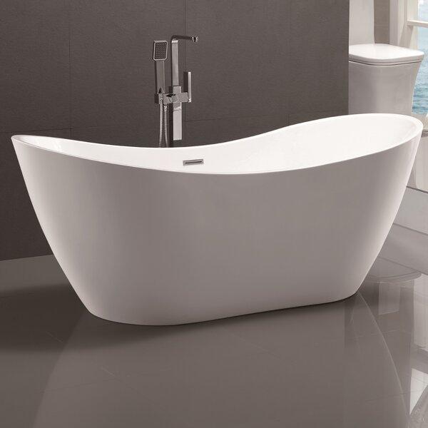 71 x 31.5 Freestanding Soaking Bathtub by Vanity A
