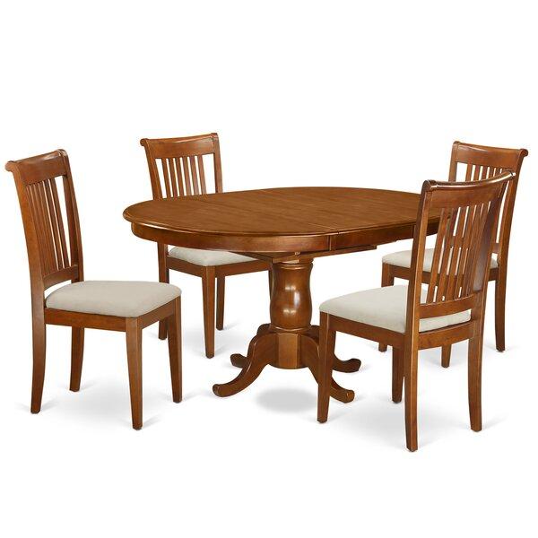 Lawanda 5 Piece Dining Set by Alcott Hill