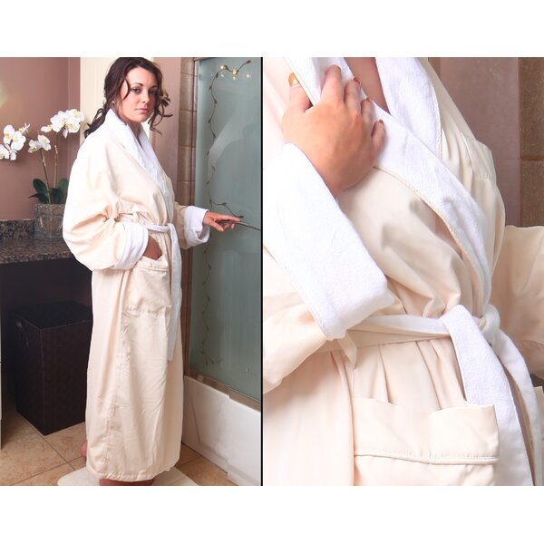 Spa Cotton Blend Velour Bathrobe by Deluxe Comfort