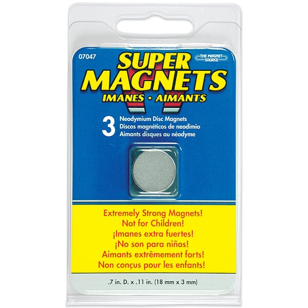 Neodymium Disc Magnets (Pack of 3) by Master Magnetics