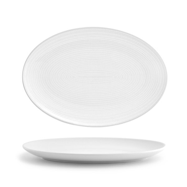 Esters Oval Coupe 9.5 Dinner Plate (Set of 3) by Orren Ellis
