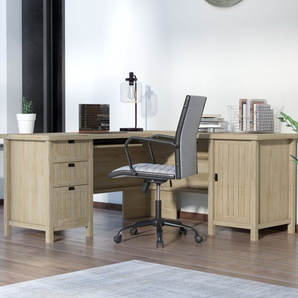 Shelby L-Shape Executive Desk by Laurel Foundry Modern Farmhouse