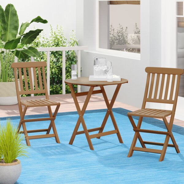Bucksport 3 Piece Teak Bistro Set By Beachcrest Home