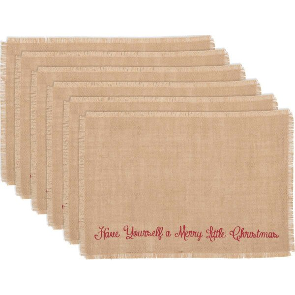 Altha Merry Little Christmas Placemat (Set of 6) by The Holiday Aisle