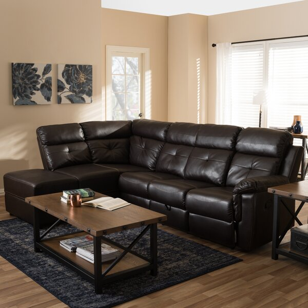 Top Offers Kujawa Left Hand Facing Reclining Sectional by Red Barrel Studio by Red Barrel Studio