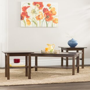 Review Frances 3 Piece Coffee Table Set by Andover Mills