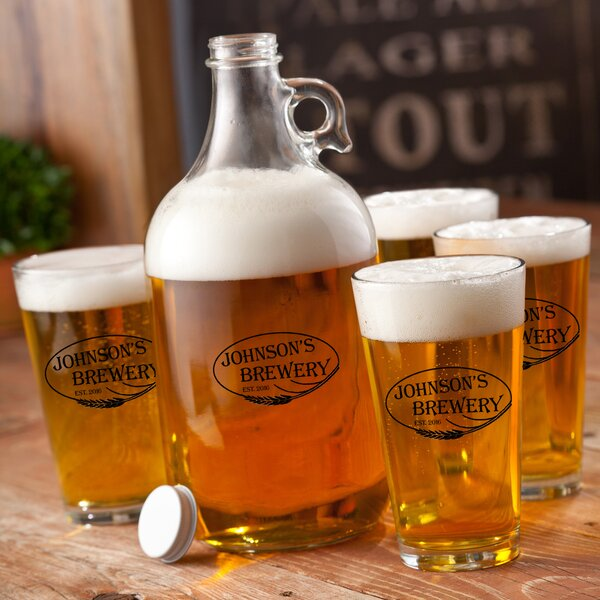 Weizen Personalized 5 Piece Beverage Serving Set by JDS Personalized Gifts