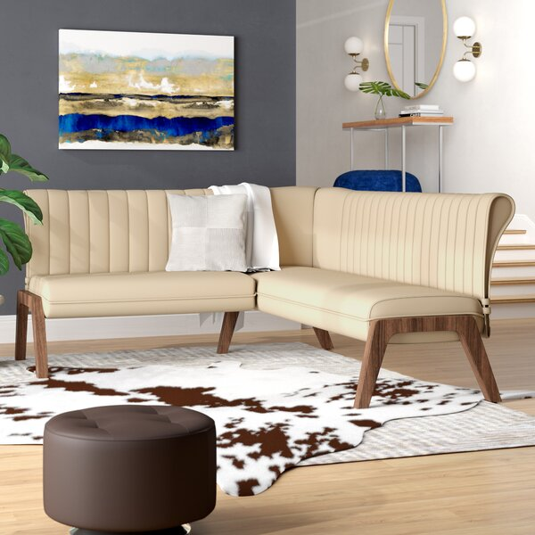 Kaysen Upholstered Corner Bench by Wade Logan