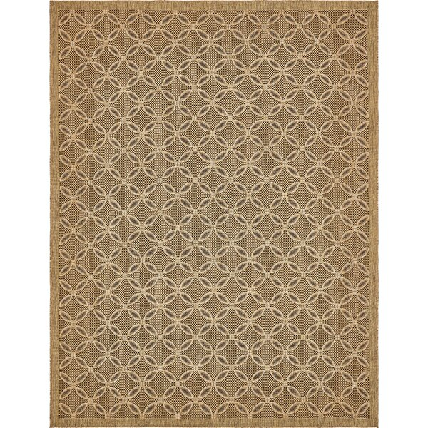Brayton Light Brown Outdoor Area Rug by Red Barrel Studio