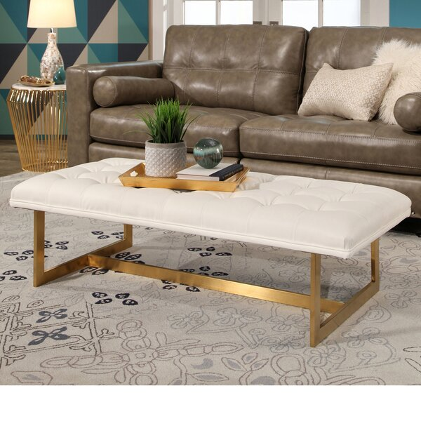 Southgate Upholstered Faux Leather Bench by Mercer41