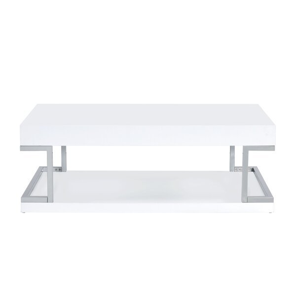 Dykstra Floor Shelf Coffee Table With Storage By Mercer41