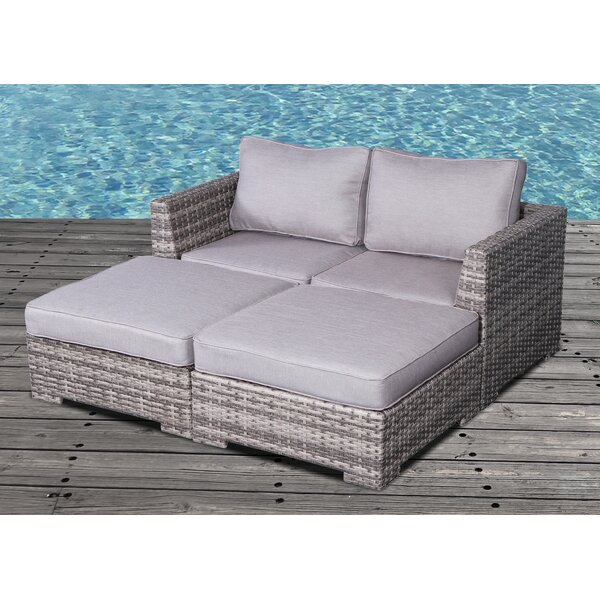 Letona Patio Daybed with Cushions by Sol 72 Outdoor