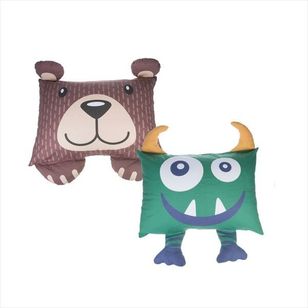 Haring Bear and Monster Shaped Pillow Case (Set of 2) by Zoomie Kids