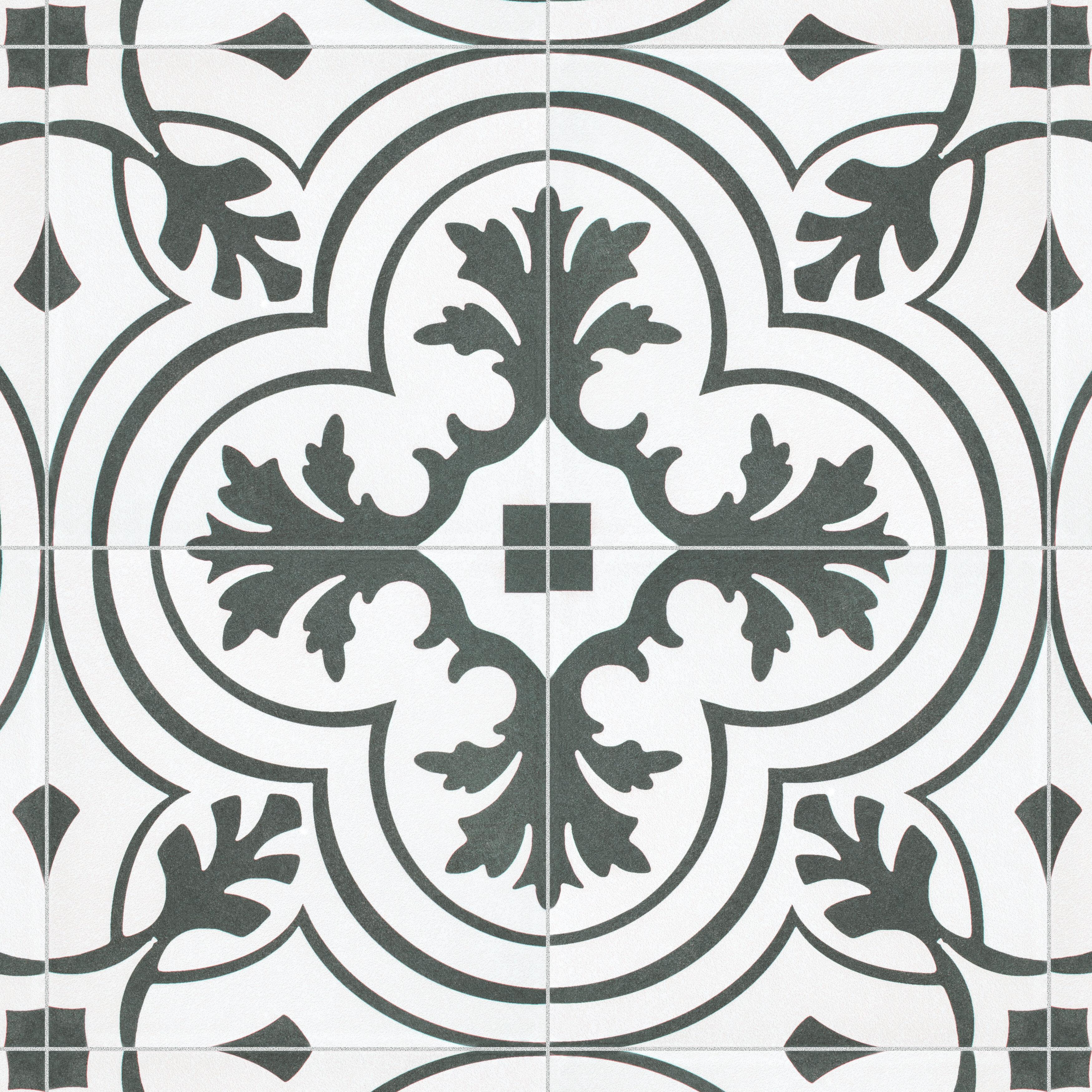 8X8 Antique White Matte Porcelain Stoneware Tile Bathroom Kitchen Entryway