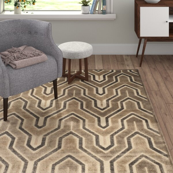 Faizan Camel/Cream Area Rug by Langley Street