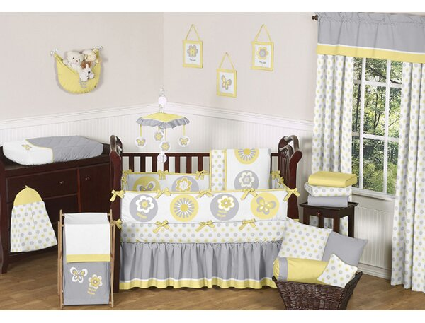 Mod Garden 9 Piece Crib Bedding Set by Sweet Jojo Designs