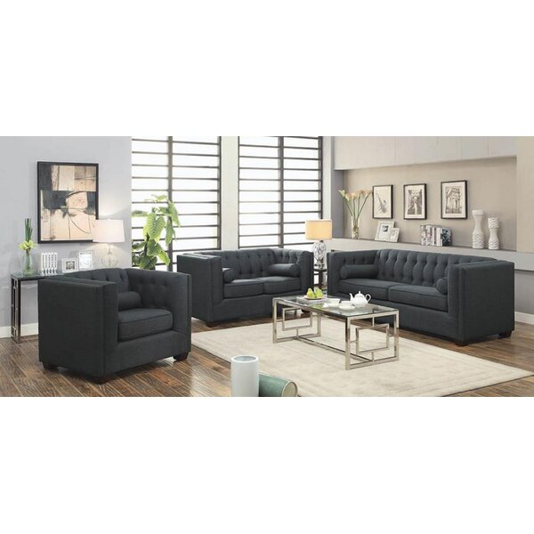 Harkness 3 Piece Living Room Set by Rosdorf Park