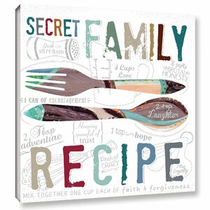 'Family Recipe Textual' Art on Wrapped Canvas by Wrought Studio