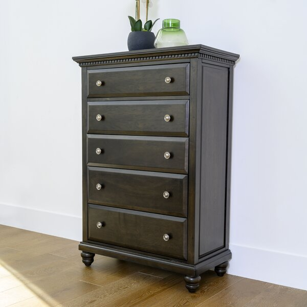 Dezirae 5 Drawer Chest by World Menagerie