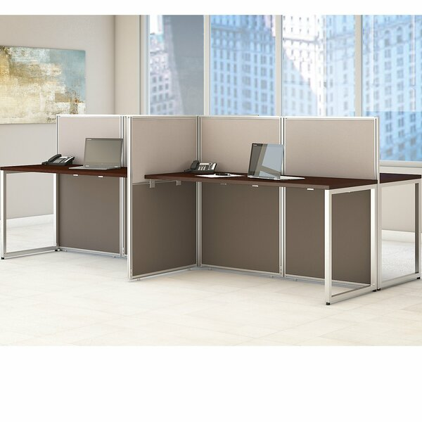 Easy Office 60W 4 Person Straight Desk Open Office by Bush Business FurnitureEasy Office 60W 4 Person Straight Desk Open Office by Bush Business Furniture