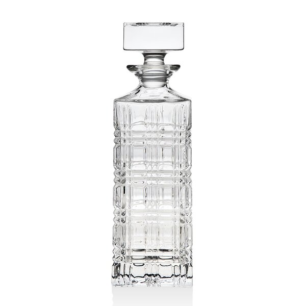 Brookfield Crystal Whiskey 18.9 oz. Decanter by Godinger Silver Art Co