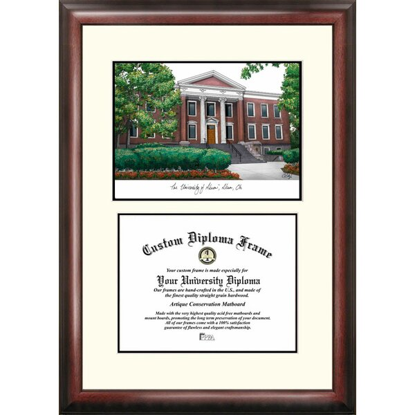 NCAA Akron University Legacy Scholar Diploma Picture Frame by Campus Images