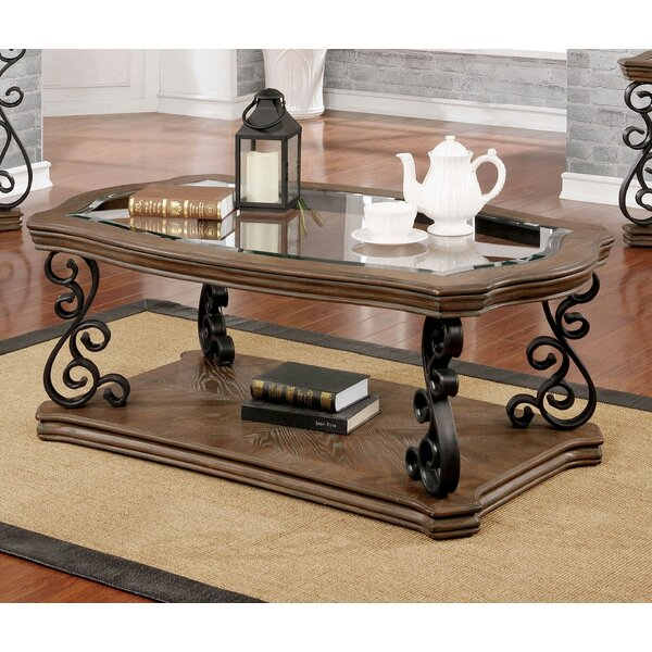 Frida Floor Shelf Coffee Table With Storage By Fleur De Lis Living