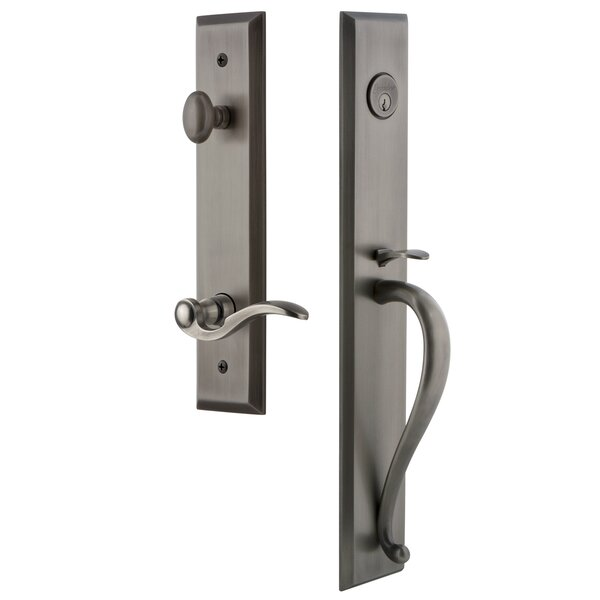 Fifth Avenue S Grip Dummy Handleset with Bellagio Interior Lever by Grandeur