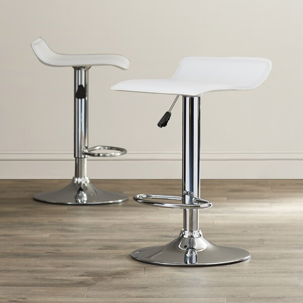 Gould Adjustable Height Bar Stool Set (Set of 2) by Wade Logan