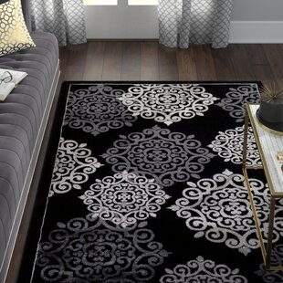 Low priced Sathvik Modern Black Area Rug By Willa Arlo Interiors