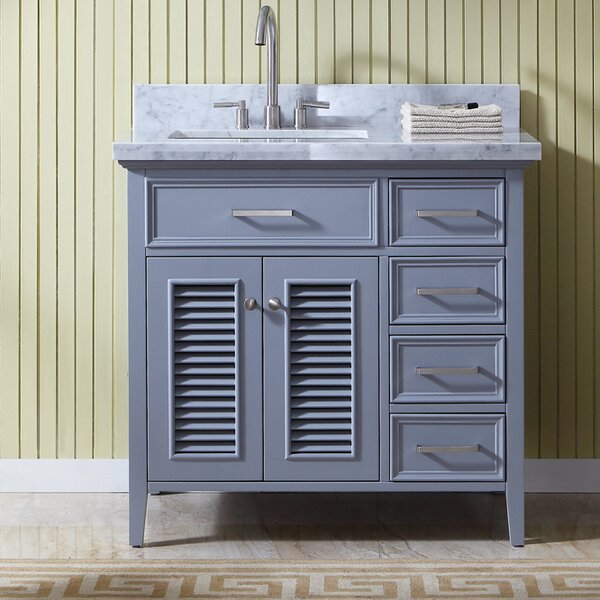Hamil Left Offset 37 Birch Single Bathroom Vanity with Mirror by Highland Dunes