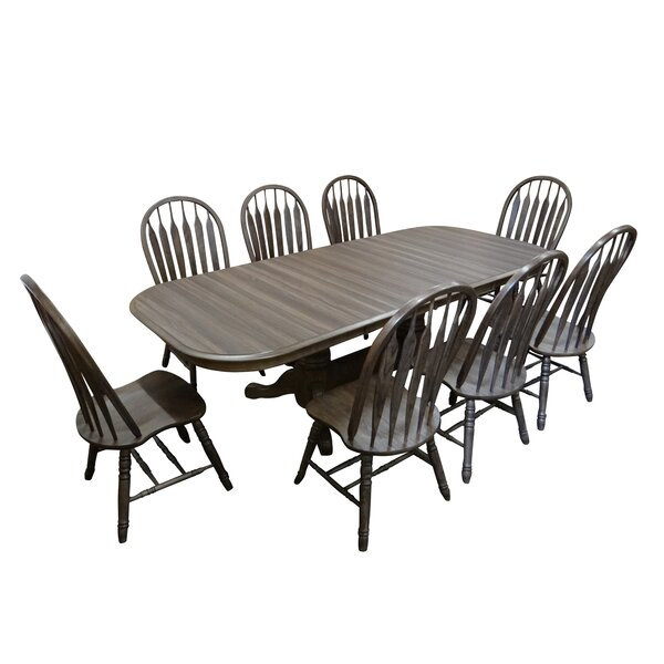 Adah 9 - Piece Extendable Dining Set by Canora Grey Canora Grey