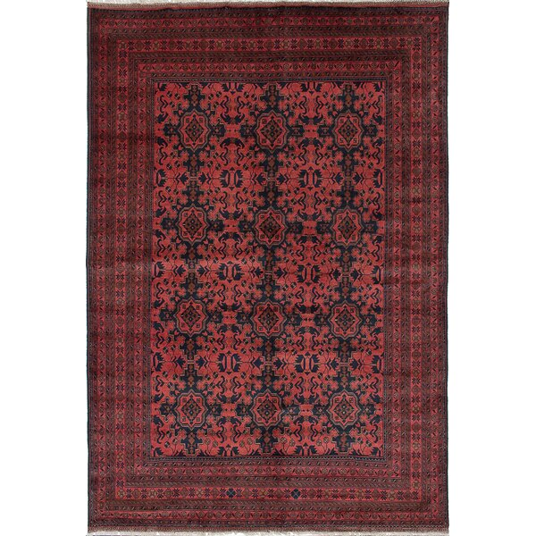 One-of-a-Kind Zelie Rectangle Hand-Woven Dark Copper Area Rug by Isabelline